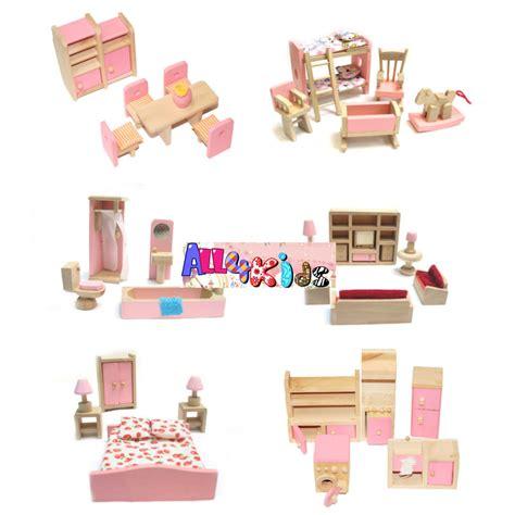 wooden designer doll set brand new wooden doll house dollhouse furniture miniature
