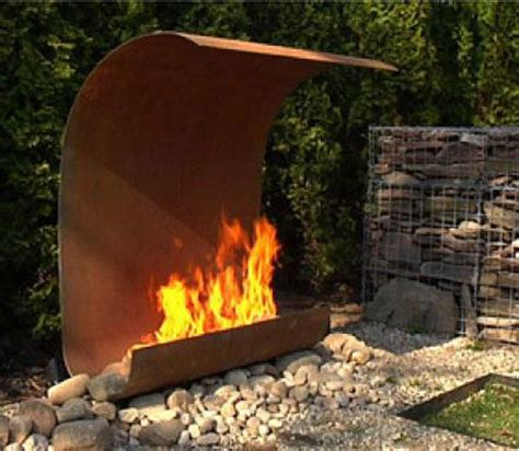 outdoor modern fireplace the world s catalog of ideas