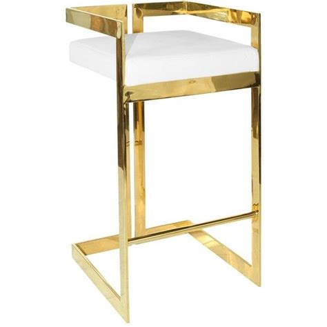 Worlds Away Bar Stools by Worlds Away Hearst White Brass Bar Stool 1 050 Liked