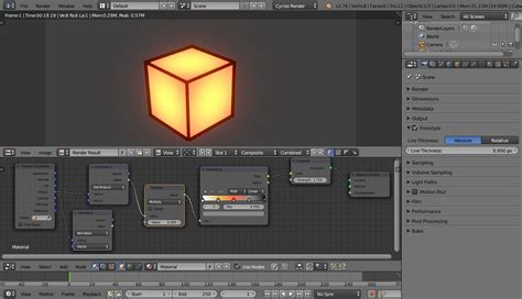 blender tutorial interior lighting materials creating a glowing effect with nodes blender