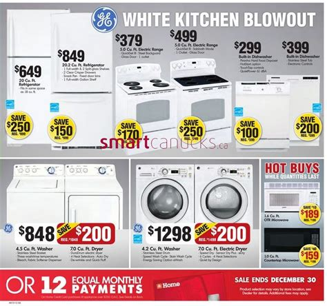 home furniture  appliances boxing week sale  boxing day canada