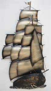 contemporary metal wall or sculpture large ship