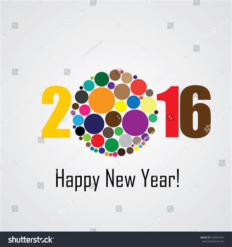happy new year icons colorful happy new year 2016 vector design icon
