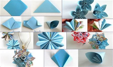 Folded Paper Flowers Tutorial - kusudama