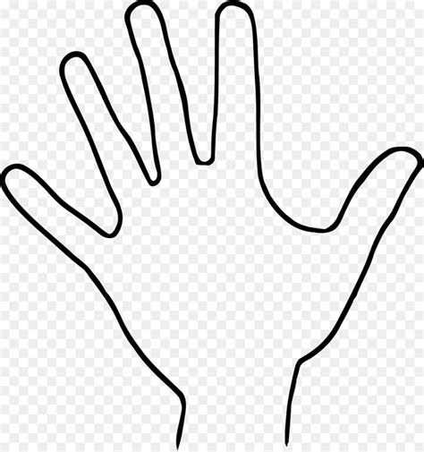 clipart mano outline drawing clip drawing png