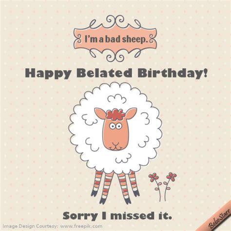 123 Greetings Belated Birthday Cards Bad Sheep Free Belated Birthday Wishes Ecards Greeting
