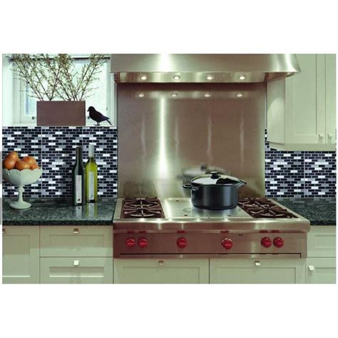 gel tile backsplash achim 9 125 in x 9 125 in magic gel mosaic decorative wall tile in spectrum metallic