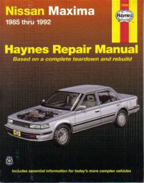 service manual hayes car manuals 1992 nissan sentra instrument cluster service manual dash haynes maxima 1985 1992 auto repair manual