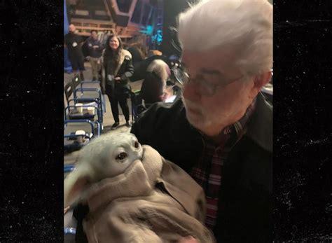 george lucas finally meets baby yoda  set  mandalorian