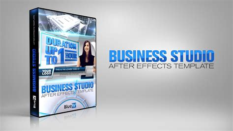 template after effects business virtual studio set business studio bluefx after effects