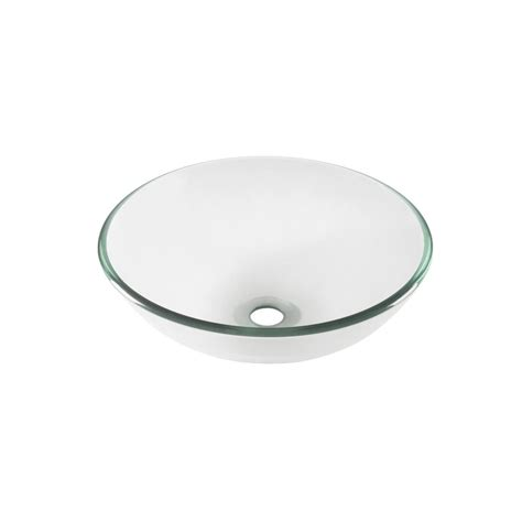 Clear Glass Vessel Sink by Glass Vessel Sink In Clear Ts 4024 The Home Depot