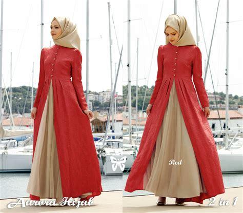 Mode Busana Muslim Terbaru Model Gamis Baju Muslim Fashion Terbaru Setelan Modern