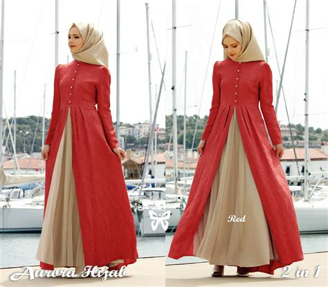 Baju Setelan Dress Gamis Muslim T2389 model gamis baju muslim fashion terbaru setelan modern