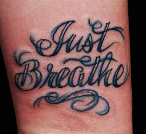 breathe tattoo designs 54 just breathe tattoos design on wrist