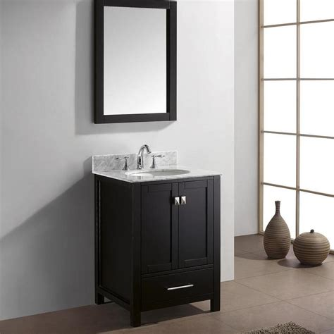24 inch black bathroom vanity virtu usa caroline avenue 24 inch single sink black
