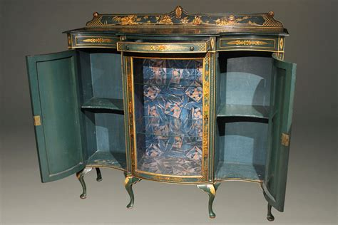 Antique Finish Cabinets by Antique Cabinet With Green Chinoiserie Finish