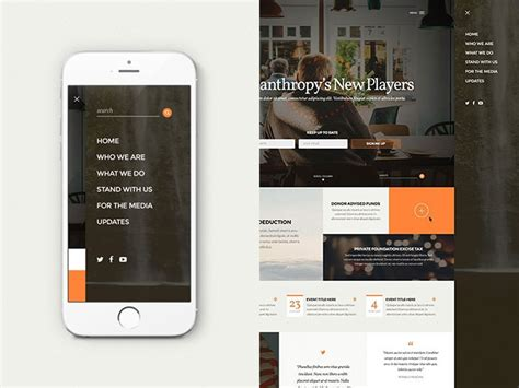 design inspiration mobile website 30 brilliant mobile navigation menu design concepts web