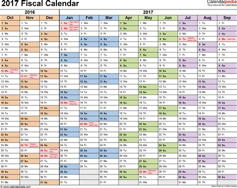 Current Calendar Year Fiscal Calendars 2017 As Free Printable Pdf Templates