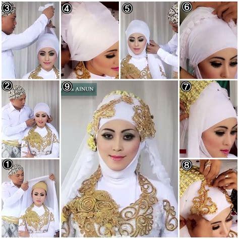 tutorial sanggul modern pengantin tutorial hijab kebaya pengantin muslim modern 1