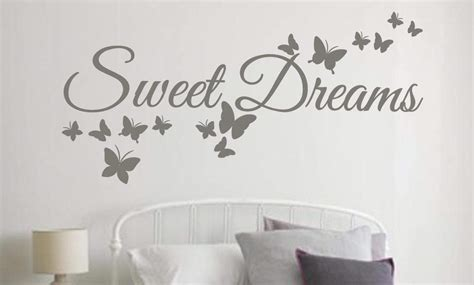 Wall Butterfly Stickers sweet dreams wall art decal sticker