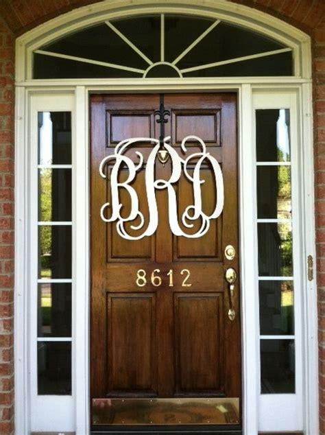 Wood Monogram For Front Door Wooden Monograms For My House