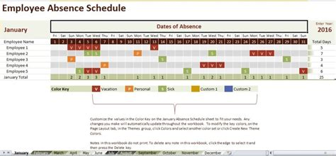 Employee Absence Schedule Template Excel Templates Pinterest Schedule Templates Employee Absence Schedule Template