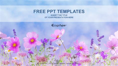 Flower Field Nature Powerpoint Templates Nature Powerpoint Templates Free