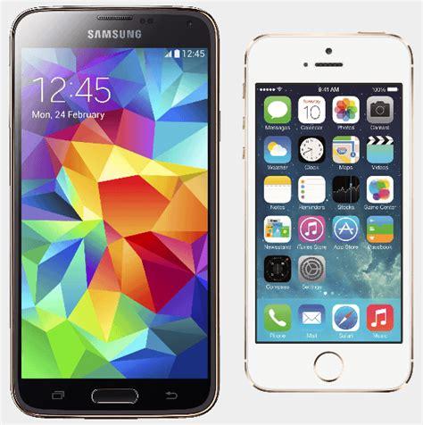 iphone layout for samsung samsung vs apple compara 231 227 o entre o galaxy s5 e o