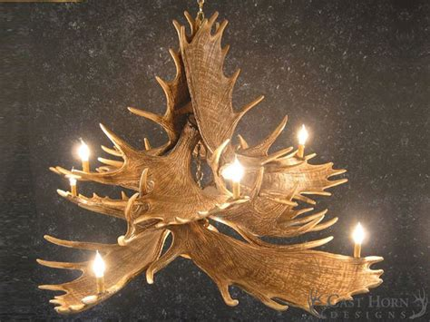 Moose 10 Antler Chandelier Cast Horn Designs Moose Antler Chandelier