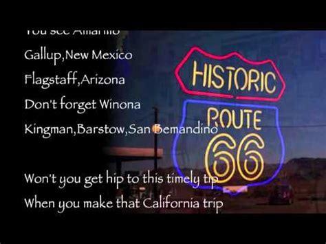 nat king cole get your kicks on route 66 k pop lyrics song