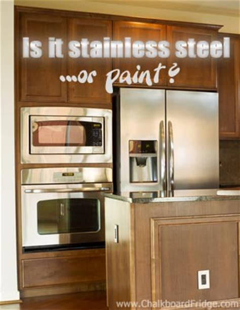 how to paint kitchen appliances how to paint a refrigerator stainless steel