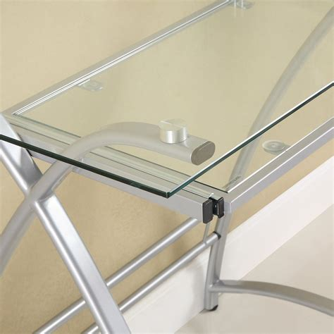 glass corner computer desk walker edison premium soreno glass corner