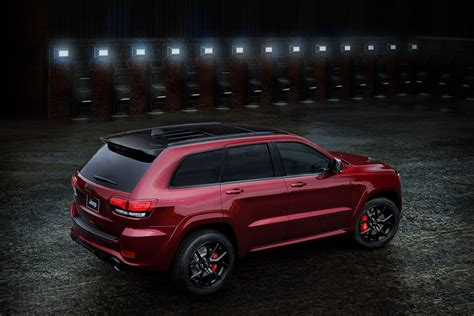 srt jeep red 2016 grand cherokee srt night edition is jeep s idea of