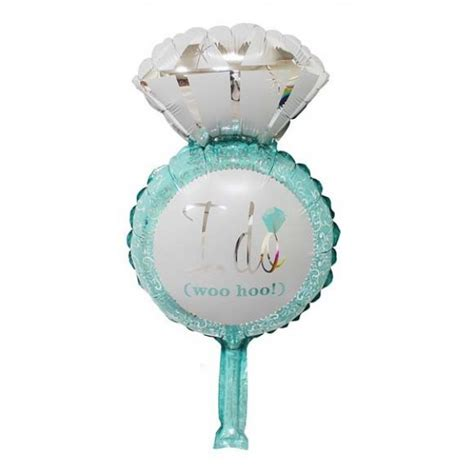 Ring Foil Balloon Blue mytex i do ring blue mini foil balloon 5pcs