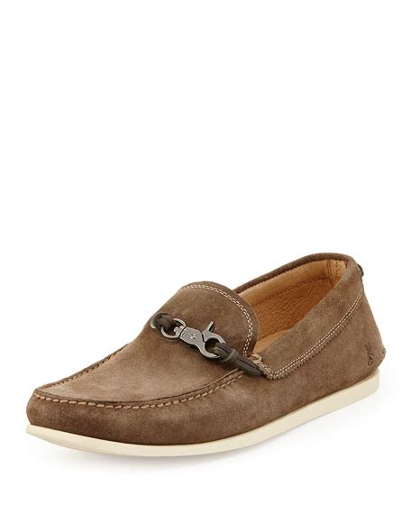loafers clay varvatos usa schooner clip suede loafer clay