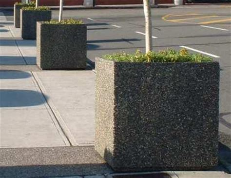 Concrete Commercial Planters by Bricks N Blocks Your Landscape Supply Store On The