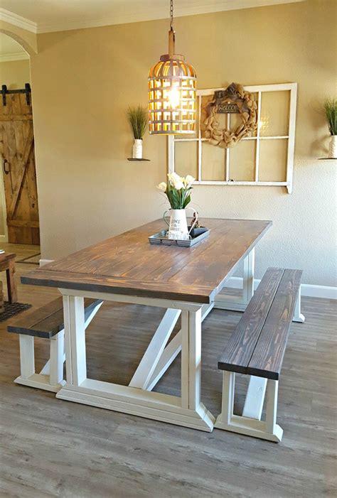chunky    chic farmhouse table plans
