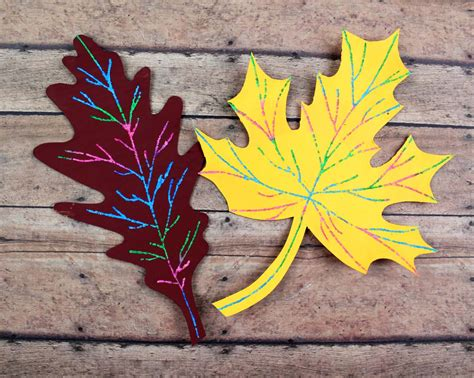 Paper Leaf Craft - scratch fall leaf craft and crafters