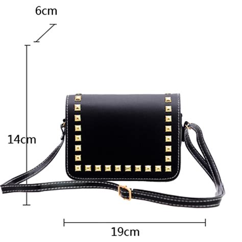 Syifa 6 Tote Bag Tas Wanita tas selempang wanita rivet leather bags black