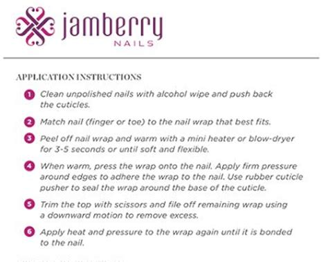 printable jamberry instructions jamberry application instructions printable memes