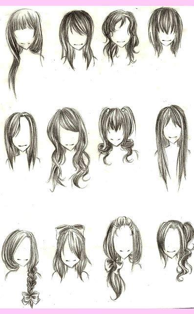 Desenhos de cabelos e como desenhar cabelos