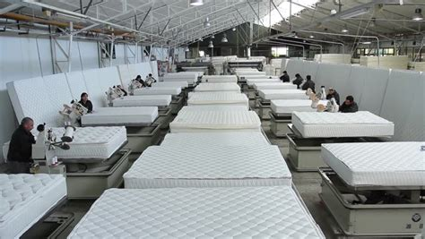 factory mattress temuco chile mattress factory a of industrial workers use specialized sewing