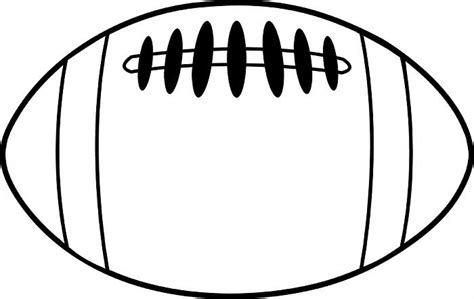 free printable football templates football clipart black and white clipartion