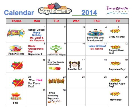 sle yearly calendar daycare monthly calendar 28 images doc 580620 sle