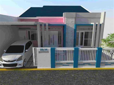 warna cat rumah minimalis atap biru dekorhom