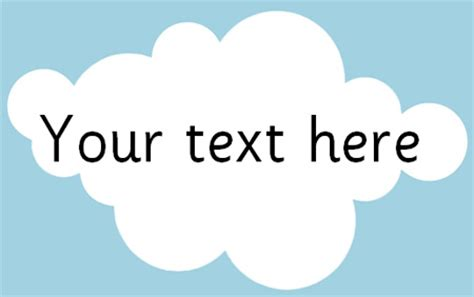 clouds editable text free early years amp primary