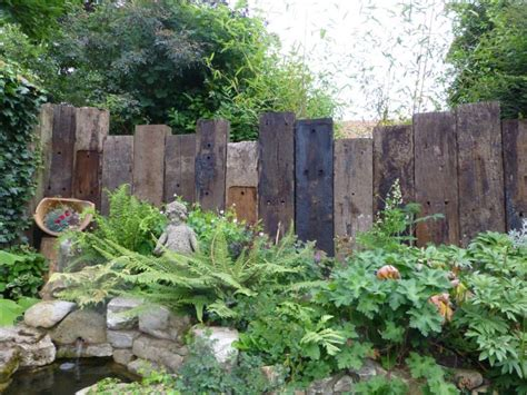 Vertical Railway Sleepers by Retaining Wall Idea Gates Fences