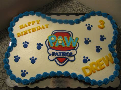 rinam cake design paw patrol bone shaped cake