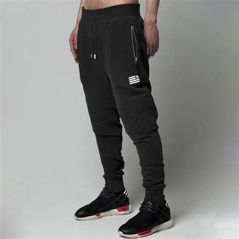 aliexpress joggers mens joggers new fashion 3d cut black joggers harem pants
