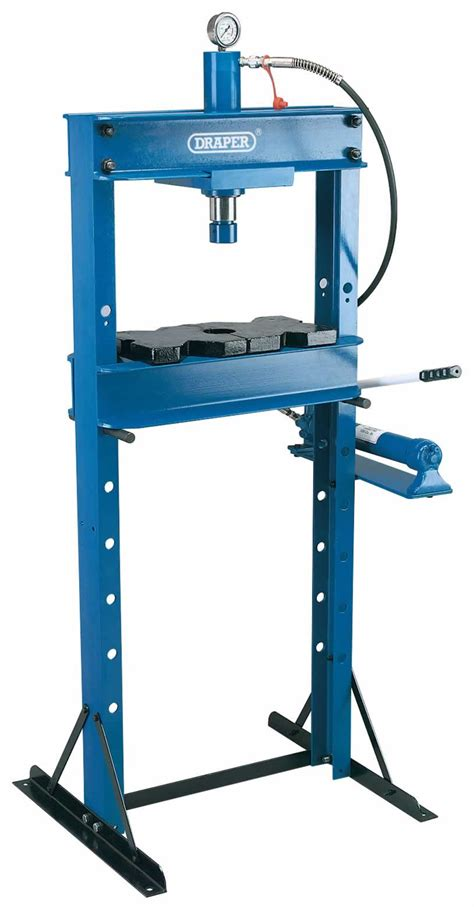 10 tonne hydraulic floor press workshop presses tools in stock uk selling draper